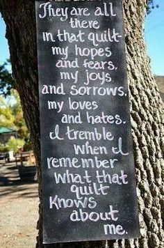 What a quilt knows