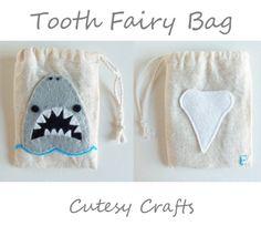 Shark Tooth Fairy Bag
