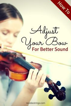 How To Adjust A Violin Bow For Better Sound http://www.connollymusic.com/revelle/blog/adjust-a-violin-bow-for-better-sound