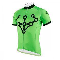 Bike Chain Design Cycling Jersey Green Short Sleeve Shirts For Men image 2