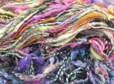 Yarns dyed with Jacquard Acid Dye - use acid dye to get the most vibrant colors imaginable #aciddye #fiberart