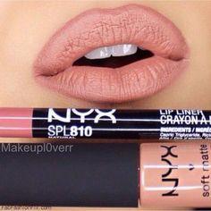"NYX lip pencil in ""Natural"" & NYX soft matte lip cream in ""London"". Photo: Instagram/Makeupl0verr"