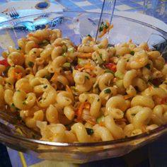 Μακαρονοσαλάτα η πανεύκολη Salad Bar, Cooking Time, Pasta Salad, Macaroni And Cheese, Salads, Meat, Ethnic Recipes, Food, Crab Pasta Salad