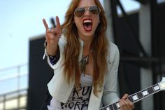 Lzzy Hale of Halestorm. What a voice. This girl, holy crap. Nothing beats her in concert.