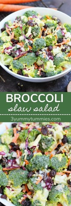 This Broccoli Slaw Salad is so easy to put together for a summer BBQ side dish! This Broccoli Slaw Salad is so easy to put together for a summer BBQ side dish! Side Dishes For Bbq, Summer Side Dishes, Healthy Side Dishes, Vegetable Side Dishes, Side Dish Recipes, Vegetable Recipes, Sides For Bbq, Bbq Recipes Sides, Fall Dishes