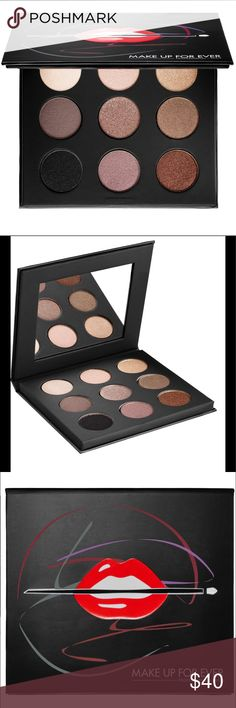 Make up for ever Artist Palette Color Nudes NEW BRAND!!!   Collectible eyeshadow palette with nine must-have Artist Shadow formulas in neutral tones.   This palette contains:  - 9 x 0.06 oz Eyeshadow in  - Pearl, - Taupe Gray, - Onyx, - Pink Ivory, - Taupe Platinum, - Pink Granite, - Golden Beige, - Iced Brown, - Celestial Earth   - Illustrated step-by-step application tips to help you sweep on a number of eye-catching looks   THE PERFECT GIFT!!! Sephora Makeup Eyeshadow