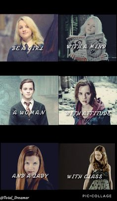 Be a girl with a mind a women with attitude and a lady with class Mode Harry Potter, Harry Potter Girl, Harry Potter Feels, Harry Potter Puns, Harry Potter Pictures, Harry Potter Aesthetic, Harry Potter Universal, Harry Potter Characters, Hermione