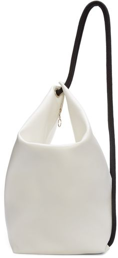 MM6 Maison Margiela White & Black Leather Rope Backpack | @andwhatelse