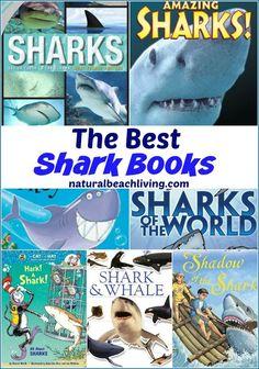 The Best Shark Books for Kids, Activity books, Fiction and non- fiction books for kids, Ocean Theme Unit Study, Shark books for Preschool, Shark Week, Shark