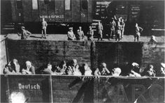Jews on cattle cars waiting for the inevitable, just horrific.