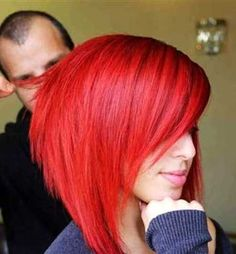 41 ideas for hair color red ombre short bob hairstyles Dyed Red Hair, Red Hair Color, Hair Color Balayage, Red Colour, Honey Balayage, Short Balayage, Ombre Colour, Hair Highlights, Short Red Hair