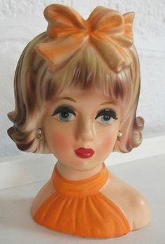 1950s lady head vase