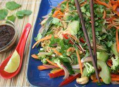 Healthy peanut noodle salad