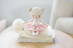 POUPEE CHAT - IDEE CADEAU BEBE FILLE- CAT DOLL- BABY GIRL IDEA GIFT