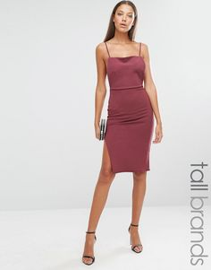 Missguided+Tall+Backless+Strappy+Midi+Dress