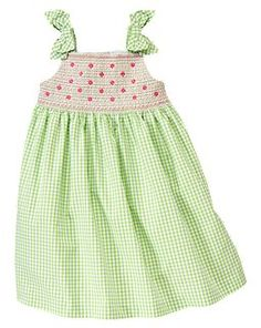 Smocked gingham dress...gymboree...