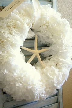 The Virginia House: We Can Do It Cheaper - Coffee Filter Wreath Tutorial