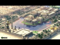 ibuildpixels: Tertiary Dreams in the Nile - The Ancient Egyptian City Minecraft build created Cthuwork & NationalArchitects Ancient Egyptian Cities, Ancient Egyptian Architecture, Ancient History, European History, Ancient Artifacts, Ancient Aliens, Ancient Greece, Black History, American History