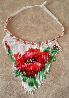 Serap 'feeling n k feeling rm feeling z feeling albenisi – Schmuck Beaded Necklace Patterns, Beaded Jewelry Designs, Beaded Earrings, Beading Projects, Beading Tutorials, Beading Patterns, Bead Loom Designs, Seed Bead Necklace, Handmade Beads