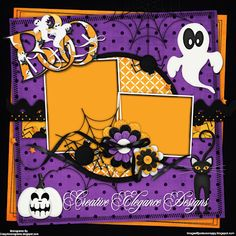 Scrapbooking TammyTags -- TT - Designer - Creative Elegance Designs, TT- Item - Quick Page, TT - Theme - Halloween