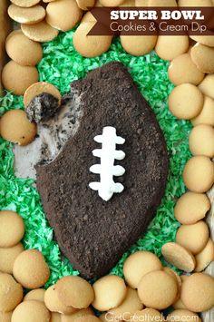 Super Bowl Cookies and Cream Dip