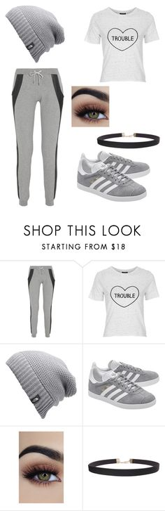 """""""Untitled #282"""" by mcl2000 on Polyvore featuring Lot78, Topshop, The North Face, adidas Originals and Humble Chic"""