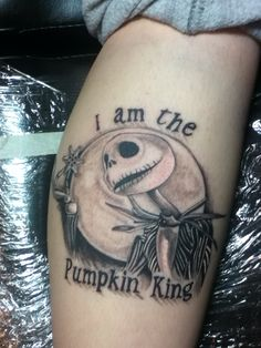 b9dda5a656f My jack skellington tattoo on my calf Random Tattoos, Calf Tattoo, Tatoo,  Awesome