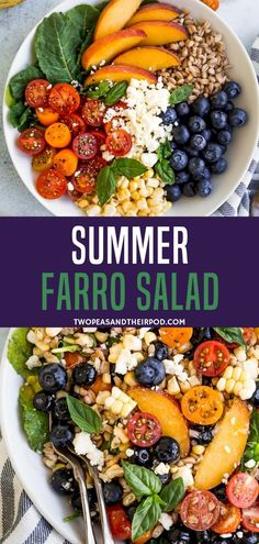 Have a healthy summer farro salad with tomato cucumber and basil in one bowl! ready in 20 minutes this summer farro salad recipe is best for quick lunches and dinner definitely a must try recipe! Easy Summer Meals, Healthy Summer Recipes, Healthy Salad Recipes, Summer Salads, Summer Lunches, Farro Recipes, Healthy Salads For Dinner, Green Salad Recipes, Healthy Lunches