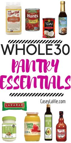 These Whole 30 Pantry Essentials will stock your kitchen and prepare you for a successful Whole 30 or Paleo diet. You'll want to see these must-have items!