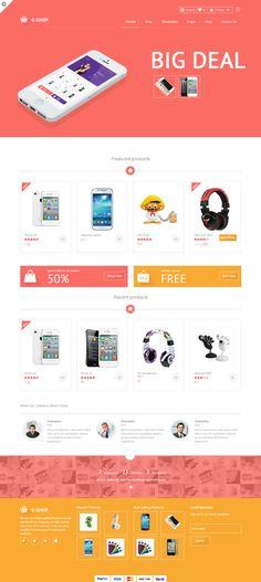 Gshop Advance E-commerce Template by WordPress Design Awards , via Behance