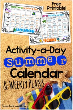 Activity-a-Day Summer Calendar & Weekly Plans FREE Activity-a-Day Summer Calendar with over 100 Fine Motor and Gross Motor Activities for kids!<br> FREE Activity-a-Day Summer Calendar with over 100 Fine Motor and Gross Motor Activities for kids! Gross Motor Activities, Toddler Activities, Preschool Activities, Camping Activities, Family Activities, Indoor Activities, Camping Tips, Sumner Activities, Day Care Activities