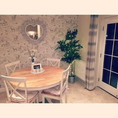 Our cute dining area #countryliving #lauraashley #diningroom #homedecor #homeinspiration