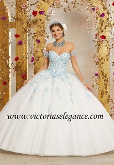 ca2e0f8a0f9 Crystal Beaded Embroidery on Tulle Ball Gown Morilee 60071