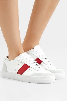 71f674e9ab1 AXEL ARIGATO appealing Dunk suede-trimmed leather sneakers