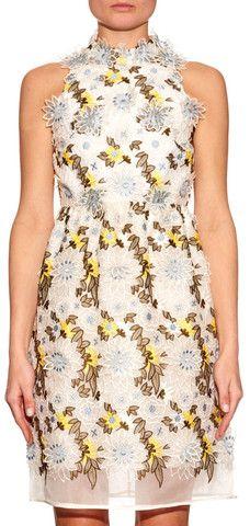 'Dina' Floral Embroidered Dress