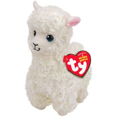 Buy TY Beanie Babies Reg Lily Cream Llama online or in store at Mr Toys. Browse our Ty Beanie Boos range at great prices. Ty Beanie Boos, Beanie Babies, Ty Babies, Halloween Costume Shop, Halloween Costumes For Kids, Ty Peluche, Llama Stuffed Animal, Stuffed Animals, Stuffed Toy