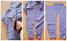 hanna heart: tutorial ♥ upcycling men's shirt
