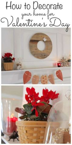 Decorating for Valentine's Day doesn't have to be complicated! Stop by to see how I use my valentine decor in our home and see more Valentine's ideas from my friends #valentinesday http://lehmanlane.net
