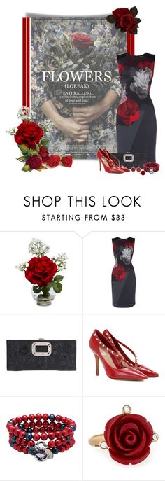 """Movies and Fashion Contest ❖ Spring has Sprung ❖"" by montse-gallardo ❤ liked on Polyvore featuring Nearly Natural, Ellen Tracy, Roger Vivier, Valentino, Dolan Bullock, Oscar de la Renta and Rosantica"