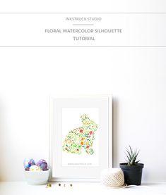 floral watercolor silhouette tutorial by Zakkiya Hamza of Inkstruck Studio