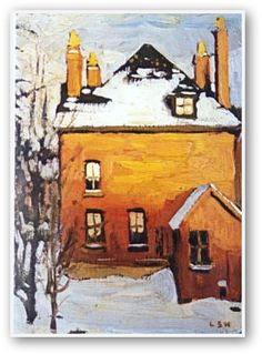 Little House, Lawren Harris, Canadian Group of Seven Tom Thomson, Emily Carr, Group Of Seven Artists, Group Of Seven Paintings, Urban Landscape, Landscape Art, Landscape Paintings, Landscapes, Small Paintings