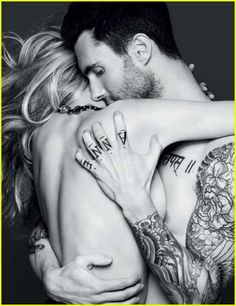 Adam Levine - love tats
