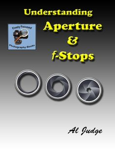 Understanding Aperture & f-Stops: An Illustrated Guidebook  by Al Judge ($4.83) http://www.amazon.com/exec/obidos/ASIN/B00C4CF552/hpb2-20/ASIN/B00C4CF552 Very easy to understand. - This short tome holds a wealth of helpful information for a beginner, like me, on the basics of aperture. - Breaking it down in words and pictures that make sense.