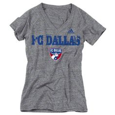 FC Dallas Women's Heathered Grey adidas Roughed Up Tri-Blend V-Neck T-Shirt Colorado Rapids, Fc Dallas, V Neck T Shirt, Adidas, My Style, Sweatshirts, Tees, Mens Tops, Athletes