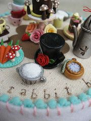 Alice Table (Pinks & Needles (used to be Gigi & Big Red)) Tags: roses sculpture rabbit clock mushroom cake fairytale table glasses book miniature cupcakes strawberry embroidery alice strawberries plate mini sugar desserts polymerclay polkadots eatme carrots caketopper etsy teacup centerpiece spectacles platter stitched creamer turnips whimsical sculpted aliceinwonderland floss throughthelookingglass lemoncurd woolfelt strawberryjam shabby drinkme shabbychic timeconsuming downtherabbi...