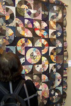 Fan quilt detail 2 - Tokyo Quilt Festival 2006