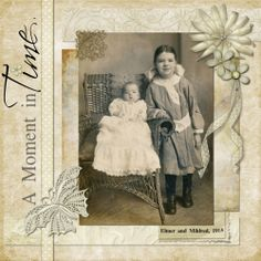 A Moment in Time ~ This simply designed monochromatic digi page puts the focus on the photograph. Heritage Scrapbook Pages, Vintage Scrapbook, Scrapbook Page Layouts, Scrapbooking Ideas, Scrapbook Cards, Family History Book, Creative Memories, Old Pictures, Hobbies