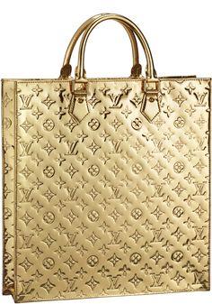 Louis Vuitton Monogram Miroir Sac Plat In Gold