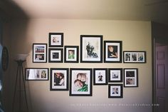wall of frames.