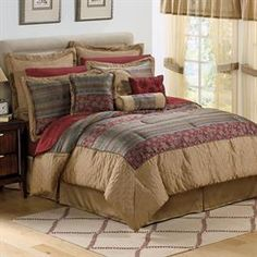 Hickory Stripe 20-Pc Comforter Set & More | Plus Size Home & Kitchen | OneStopPlus